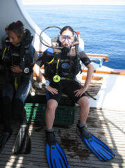 geared up for the dive