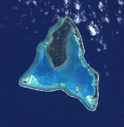 satellite map aitutaki