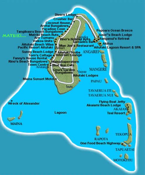 Cook Islands Beaches: Aitutaki Map, Aerial View Aitutaki Lagoon, Aerial Map Aitutaki